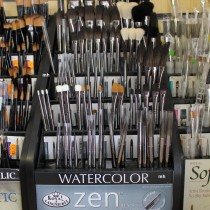 Royal & Langnickel artists painting brushes Zen, stanard handle
