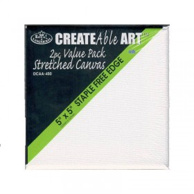 "Royal Brush Twin Value Pack Streched Canvas 5""x5"" Staple Free Edges"