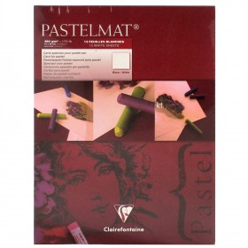 Clairefontaine artists Pastelmat cardboard Pad White 360g 18cm x 24cm 12 Sheets