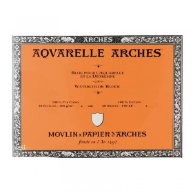 Aquarelle Arches Watercolour Block Rough - 20 Sheets - 23x31cm
