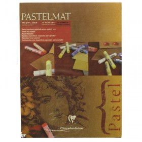 Clairefontaine Pastelmat Pad soft pastel artist card 4 Shades 360g 18cm x 24cm 12 Sheets 360gsm