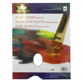 """Palette Paper Suitable For Oils And Acrylics 9""""x12"""" 40 sheets"""