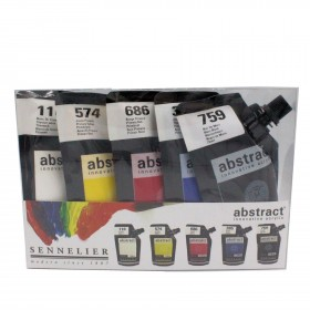 Sennelier Abstract introduction set 5x120ml pouches