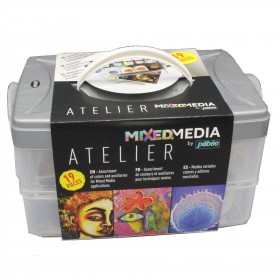 Pebeo Artists Work Box Mixed Media Paint Set