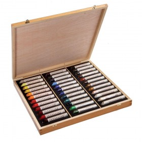 Sennelier oil stick artists quality wooden box set 36 sticks 38ml