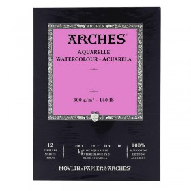 Aquarelle Arches Watercolour Pad Hot Pressed - 12 Sheets - 23x31cm