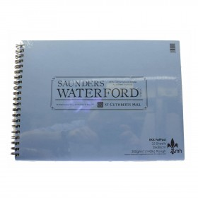 Saunders Watercolour Rough 300gsm Fat Pad  28x38cm 25sheets