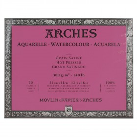 Aquarelle Arches Watercolour Block Hot Pressed - 20 Sheets - 23x31cm