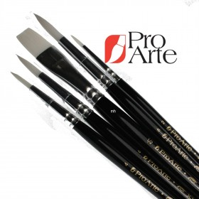 Pro Arte Scholar White Nylon Brush Wallet Set 2