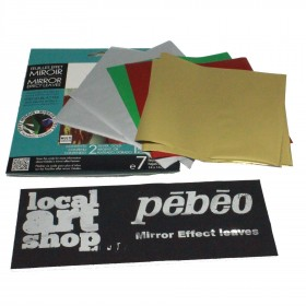 Pebeo Gedeo Mirror Effect Mixed Finish Leaves 7 14x14cm
