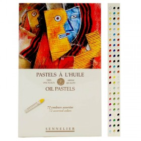 Sennelier Artists Soft Oil Pastel Assorted Box Set Of 72 Colours
