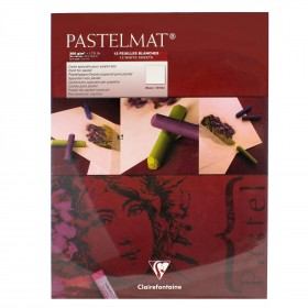Clairefontaine soft pastel artists Pastelmat Pad White 360g 30cm x40cm 12 Sheets