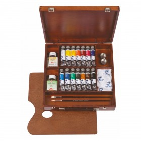 Royal Talens Van Gogh Oil Colour Wooden Box Inspiration 14 x 40ml tubes