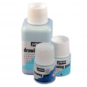 Pebeo Drawing Gum 45ml or 250ml pots of Synthetic or Natural Latex  Masking Fluid