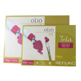 "Fabriano Tela Oil Block paper ""canvas pad"" 10 Sheets 300gsm"