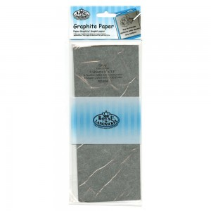 royal & Langnickel graphite trace down grey paper