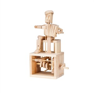 Timberkits Accordion Player wooden model flatpack kit