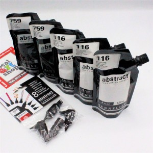 Sennelier Abstract acrylic paint Black and white set S69-N121821