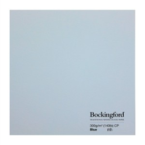 "Bockingford watercolour paper Blue 2 sheet 22x15"" cold Press paper 300gsm"