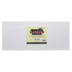 "Double Primed Acrylic Canvas Board from Loxley 20"" x 8"""