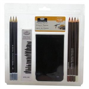 Royal & Langnickel Pastel Pencil charcoal drawing 12 Piece Art Set