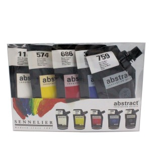 acrylic paint introduction set sennelier