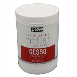 pebeo artists acrylic gesso pot one litre of primer
