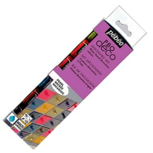 Pebeo Discovery Set 6 x 20ml Mixed Media painting set pearl