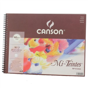 Canson pastel paper pad Mi Teintes white 24x32 paper pad