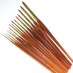 Pro Arte Series 007, Prolene Plus Synthetic Single Round Brushes - Ideal For Watercolour or Gouache Painting