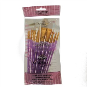 RCC-307 whtie taklon artist painting brushes
