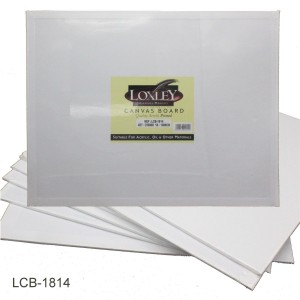 """Loxley Double Primed Acrylic Canvas Board 18"""" x 14"""""""