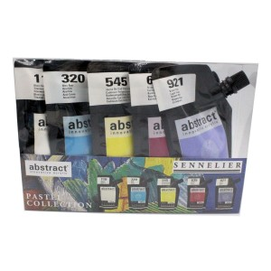 acrylic abstract pastel paint set sennelier