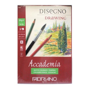 A2 Accademia 200g Drawing Pad 30 Sheets glue bound short edge