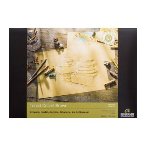 Rembrandt toned Desert Brown  paper pad180gsm 50 sheets A3