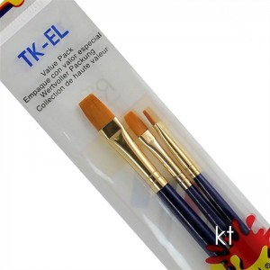 Royal & Lanignickel Value Pack Long Handle Taklon Brush Set