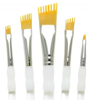 Royal & Langnickel talkon paint brush Aqualon Wisp 5pc. Assorted Filbert Set