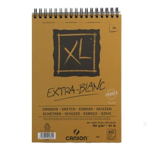 Canson XL Extra White Sketch Pad A5 90gsm 60 Sheets