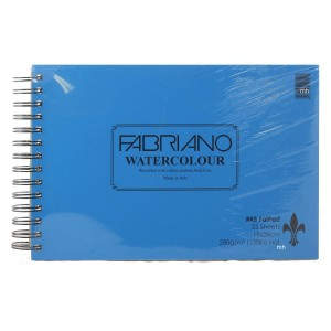 RKB FAT PAD 19 X 28cm Fabriano watercolour paper 280gsm (not)