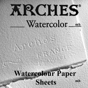 "Canson 300gsm Aquarelle Arches Watercolour 2 sheets Cold Pressed 15"" x 22"""