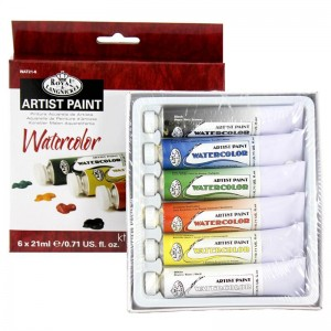 Royal & Langnickel Watercolour Artist Paint - 6x 21ml Tubes