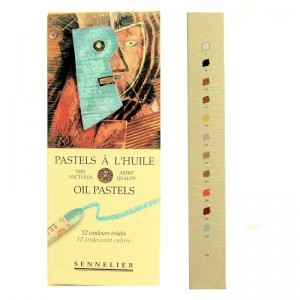 12 Sennelier Oil Pastels - Iridescent Colours