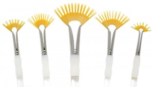 Royal & Langnickel talkon paint brush Aqualon Wisp 5pc Assorted Fan Set