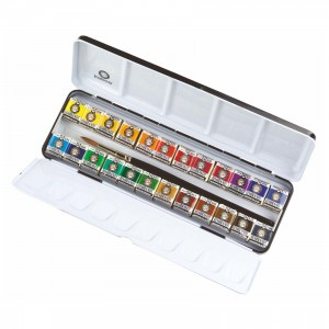 Royal Talens 24 pan Rembrandt water colour paint set 05M8624