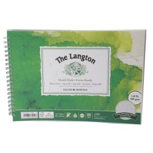 "Daler Rowney langton watercolour cold press spiral 10x7"" 300g 12sh"