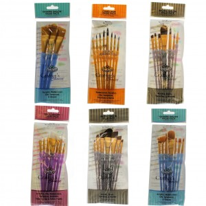 Royal & Langnickel artists crafter taklon brush set RCC-400