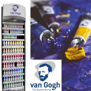 Van Gogh oil colour 40 mil tube stand 3 for 2