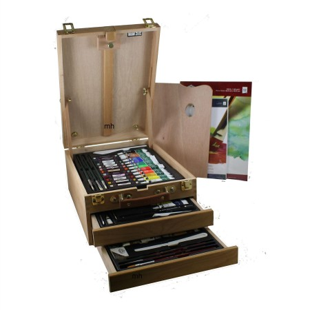 Royal & Langnickel Artists Mixed Media Wooden Easel Set - 104 Pieces, REA6000