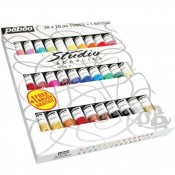 Pebeo Studio Acrylic High Viscosity 30x 20ml Paints & Brush