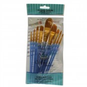 RCC-303 Royal Brush Craft/Art Brush Golden Taklon value pack 9pc Filbert / Oval wash Set